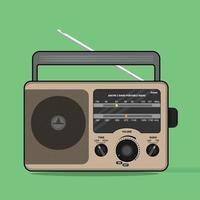 rádio retro clássico de vetor, perfeito para a indústria musical vetor
