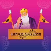 fundo de celebração gurpurab feliz vetor