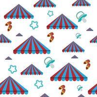 padrão de tenda de prisma com sapatos de bebê e chupeta, perfeita para embrulho para crianças vetor
