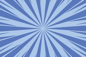 fundo de luz solar em quadrinhos abstrato azul vetor