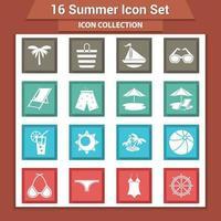 coleção de artigos de praia de verão vetor