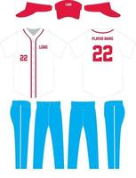 maquetes de uniforme de camisa de beisebol com design personalizado vetor