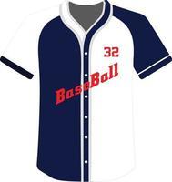 ícone de botão completo de camisas de beisebol com design personalizado vetor