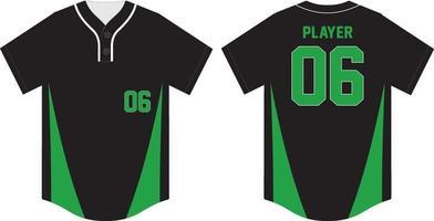 modelo de uniforme esporte de camisa de beisebol vetor