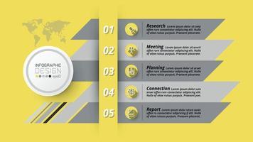 planejamento, apresentações e relatórios em análise ou pesquisa de dados se aplicam a negócios, marketing, educação, vetor, design de infográfico vetor