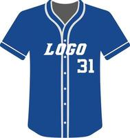 design de uniformes esportivos sublimados de camisa de beisebol vetor