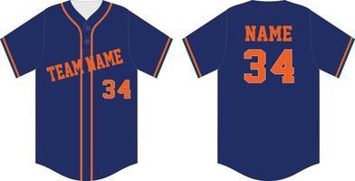 camisa de beisebol com design personalizado de dois botões vetor
