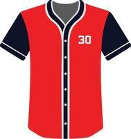 ícone de camisas de beisebol com design personalizado vetor
