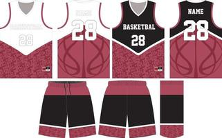 projeto de maquete de uniforme de basquete para clube de basquete vetor