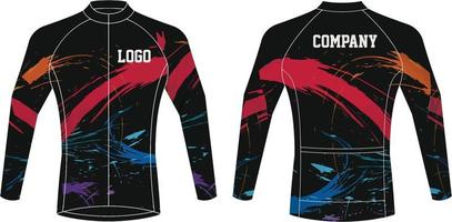 design personalizado de jersey de ciclismo vetor