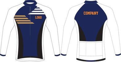design personalizado de camisolas de ciclismo vetor