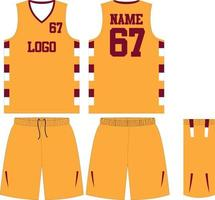 uniformes de basquete com design personalizado e shorts esportivos vetor