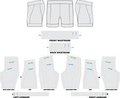 obras de arte para maquetes de tri shorts vetor