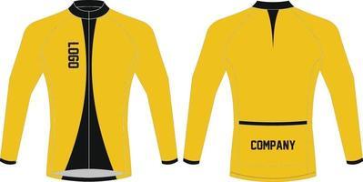 designs de maquetes de camisolas de ciclismo vetor