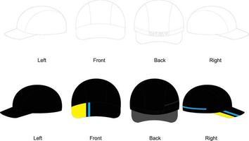 bonés de ciclismo, design em branco