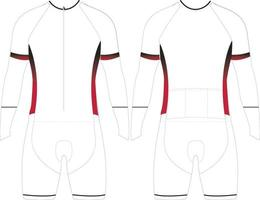 modelos de maquetes de skinsuit com zíper longo vetor
