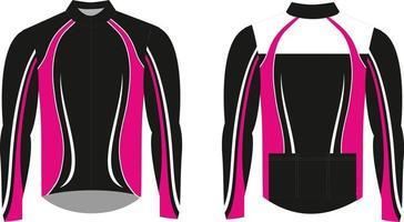 jaqueta de inverno sublimada para ciclismo vetor