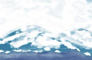 fundo de textura de pintura de arte líquida. pintura aquarela abstrata fundo azul escuro textura grunge para o fundo vetor