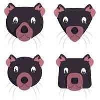 conjunto de diabos da Tasmânia dos desenhos animados.