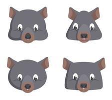 conjunto de wombats de desenhos animados.