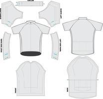 Maquetes clássicas de ciclismo em jersey e obras de arte vetor