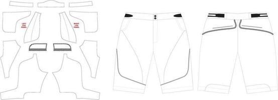 maquetes de obras de arte de shorts de mountain bike personalizados vetor