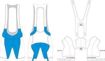 Bib shorts de ciclismo mock ups obras de arte vetor
