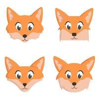 conjunto de raposas dos desenhos animados.