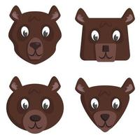 conjunto de ursos de desenho animado.