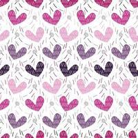 formato de coração rosa monocromático sem costura com fundo de glitter prata