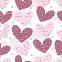 Seamless pink glitter valentine pattern background com formato de coração