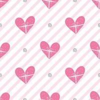 padrão de dia dos namorados coração rosa sem costura em fundo de faixa