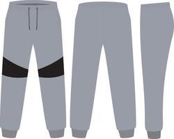 maquetes de design de calças de moletom vetor