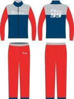 designs personalizados maquetes de trajes de treino vetor