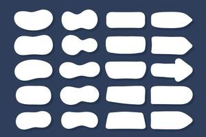 conjunto de vetores de caixas de bolhas de discurso para diálogos. diálogo de desenho animado isolado no fundo