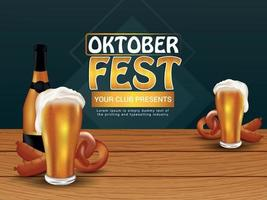 design de cartaz para oktoberfest anual vetor
