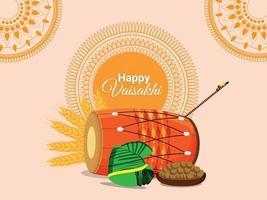 conceito de design plano sikh festival vaisakhi vetor