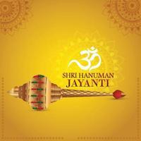 cartão comemorativo hanuman jayanti e plano de fundo vetor