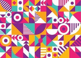fundo de mosaico de forma geométrica abstrata colorida vetor