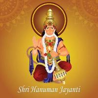 ilustração em vetor criativa do senhor hanuman com plano de fundo