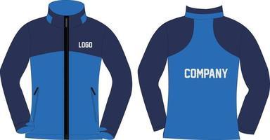 modelo de jaquetas softshell com design personalizado vetor