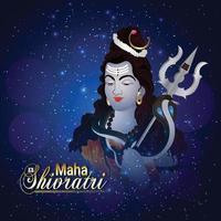 saudação de celebração maha shivratri vetor