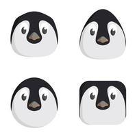 conjunto de pinguins de desenho animado.