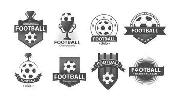 modelos de design de logotipo de emblema de futebol futebol. vetor
