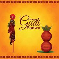 ilustração criativa de celebração feliz gudi padwa vetor