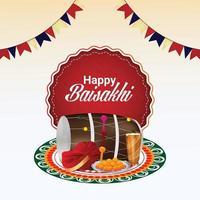 feliz festa de ilustração do festival vaisakhi sikh vetor