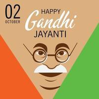 ilustração em vetor de um plano de fundo para a celebração de 2 de outubro de gandhi jayanti.