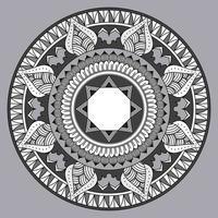 padrão circular em forma de mandala, ornamento decorativo em estilo oriental, desenho de mandala ornamental, fundo de vetor livre