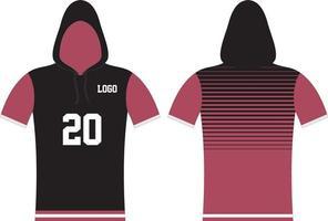 design personalizado com capuz de manga curta vetor