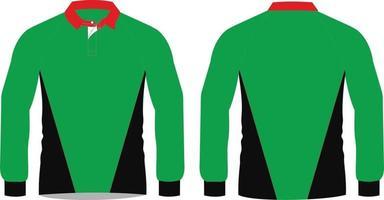 camisas de rugby com design personalizado de malha vetor